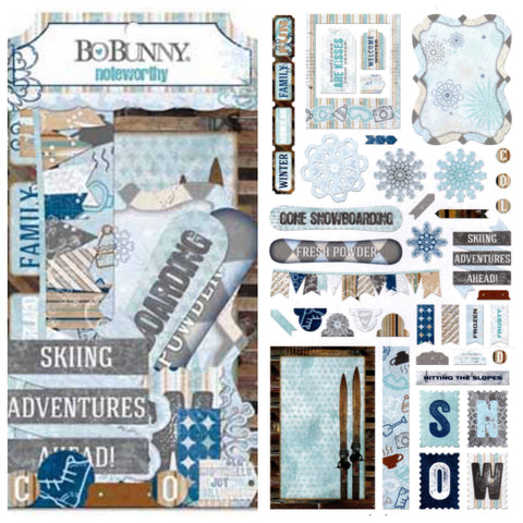 Bo Bunny - Whiteout Noteworthy Ephemera Die Cuts
