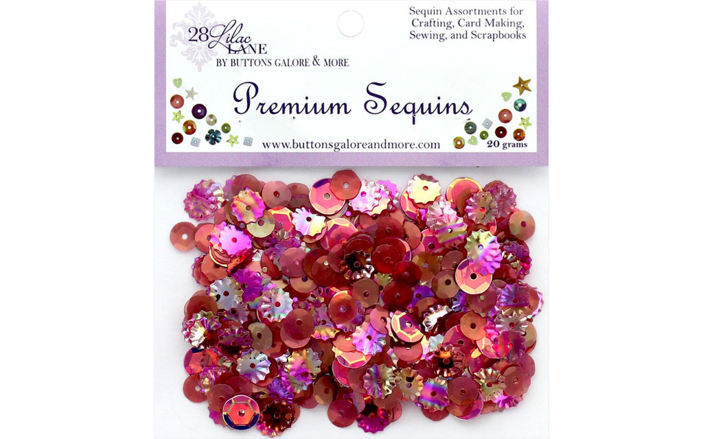 28 Lilac Lane - Wine Sequins - 20 grams (flowers, purple, mauve)