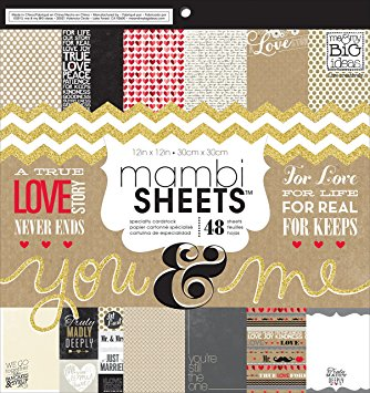 MAMBI Sheets - You and Me 12x12 Scrapbook Paper Pad