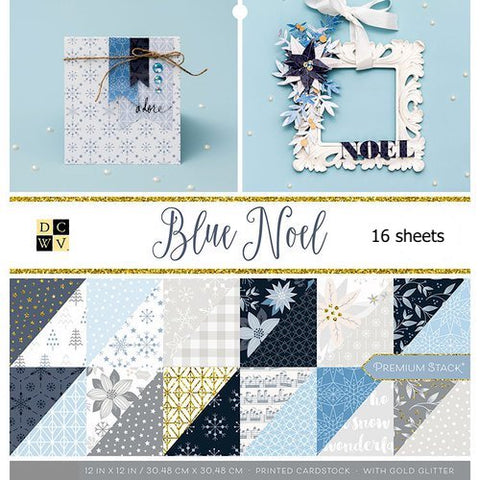 DCWV - Blue Noel 12x12 Premium Papers (Winter, Christmas, Holiday)
