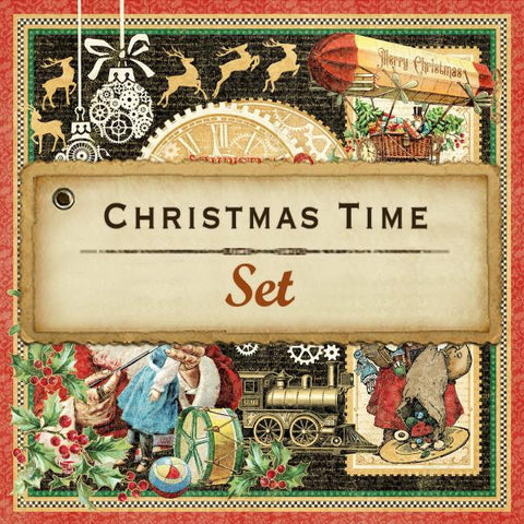Graphic 45 - Christmas Time 12x12 Paper Set (steampunk, vintage, gears)