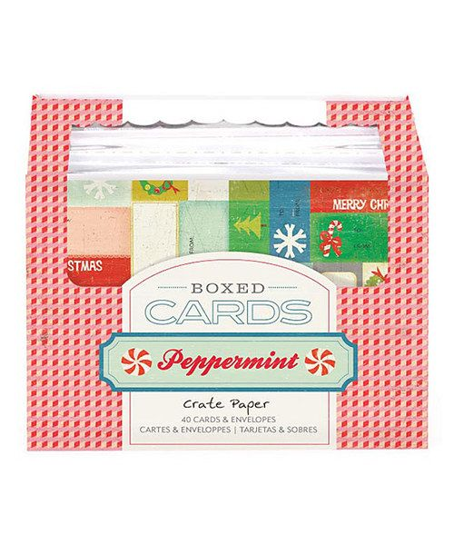 Crate Paper (American Crafts) - Peppermint Boxed Christmas Cards