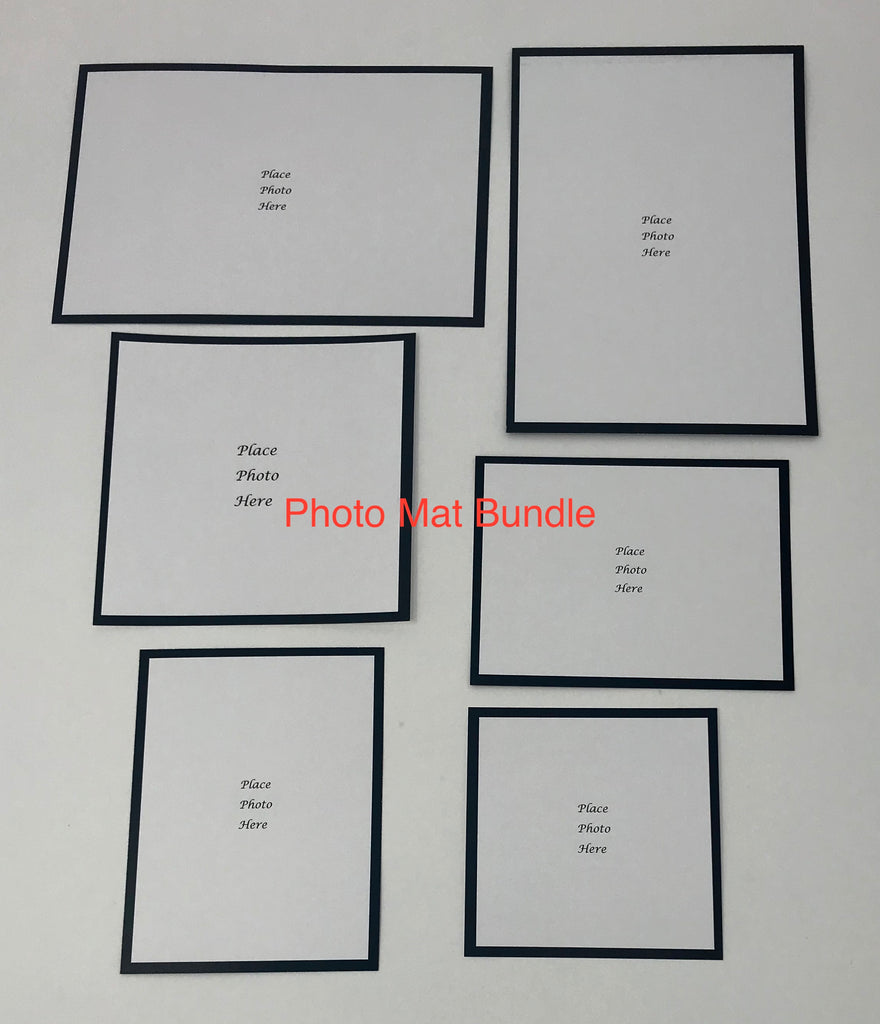 Professionally Printed and Cut Photo Mats Set 4x6, 3x4, 4x4, 3x3