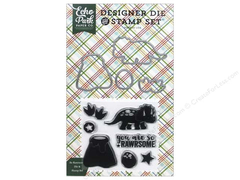 Echo Park - So Rawrsome (Dino Friends) Designer Die & Stamp Set