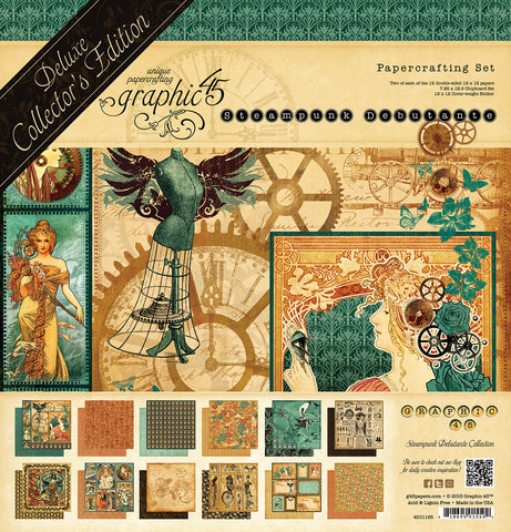 Graphic 45 - Steampunk 12x12 Debutante Deluxe Collector's Edition