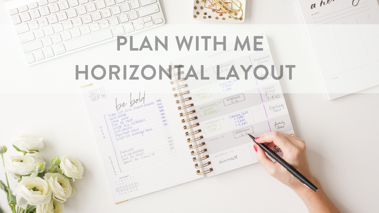 How I Set Up My Planner - Horizontal Layout