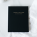 2021 Black Leather Dream Planner