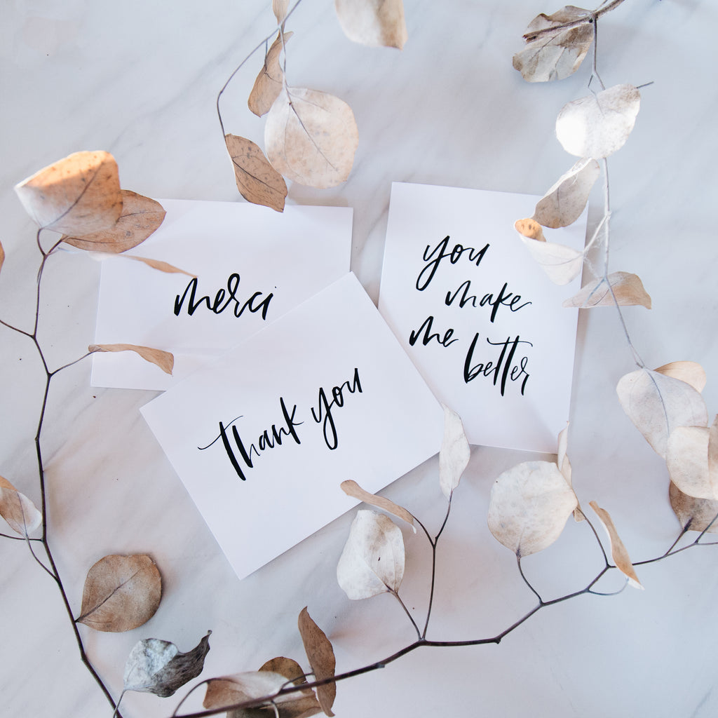 Thank You Card Set of 12