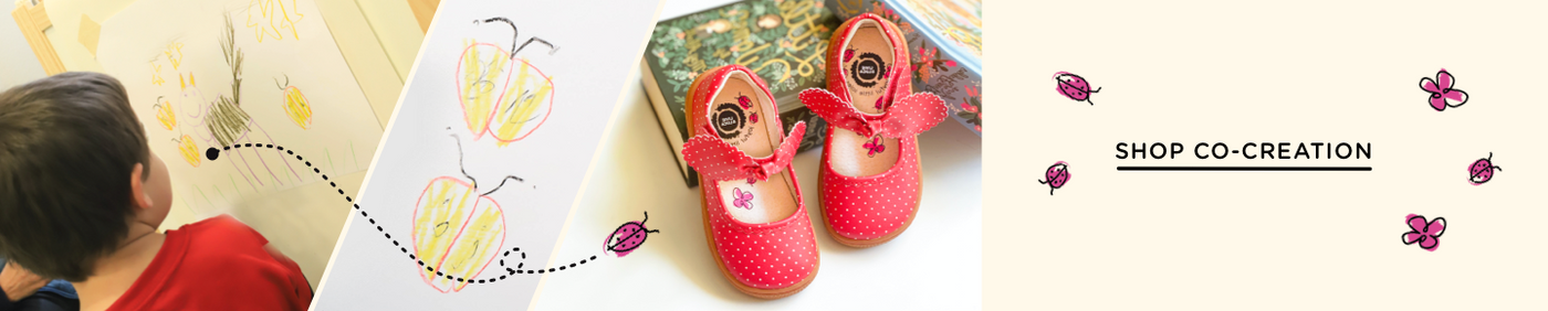 Co-Creation shop our shoes that we've collaborated on with kids