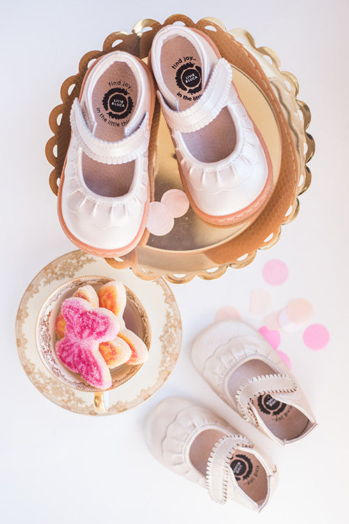 Beige Mary Janes
