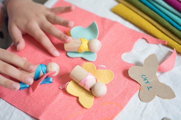 Felt fairy crafts tutorital for kids