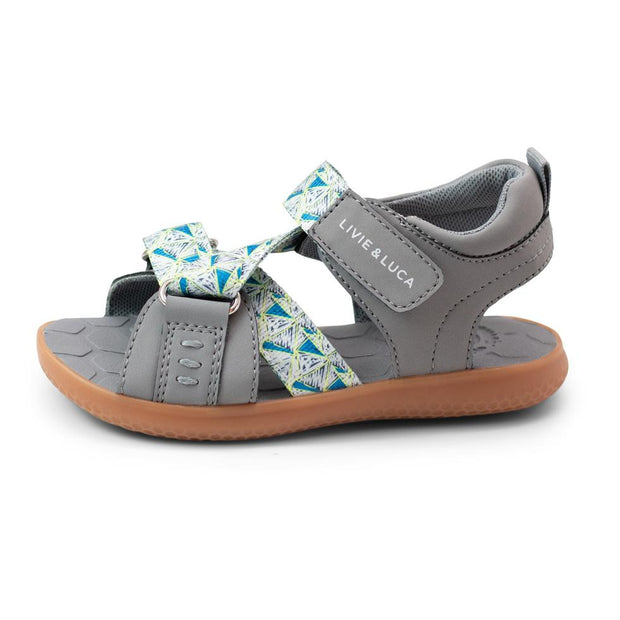 ZIGGY Sandal | Gray Triangle Print
