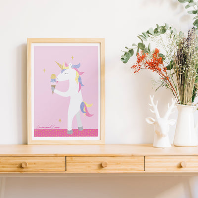 Unicorn Ice Cream - Printable Art Download