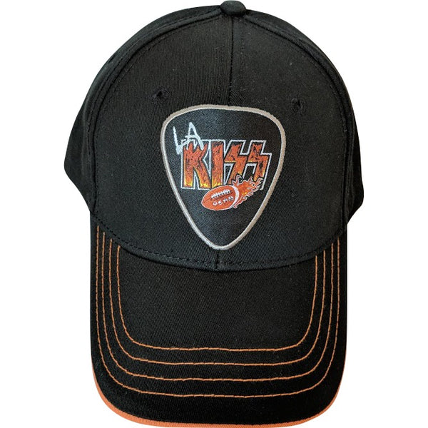 LA KISS Orange and Black Guitar Pick Hat