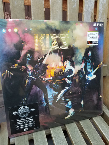 Kiss Alive German Logo Ltd Edition Back to Black Vinyl