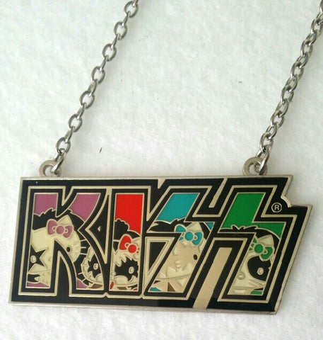 Hello Kitty KISS Logo Metal Necklace
