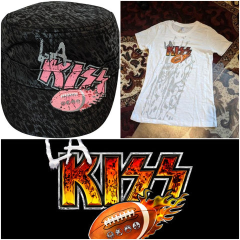 LA KISS Ladies T-Shirt & Hat Combo