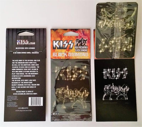"KISS Black Diamond ""black diamond"" scent air freshener"