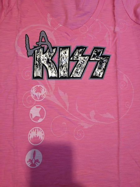 "LA KISS ""Pink Icons"" Ladies T-Shirt (#031)"