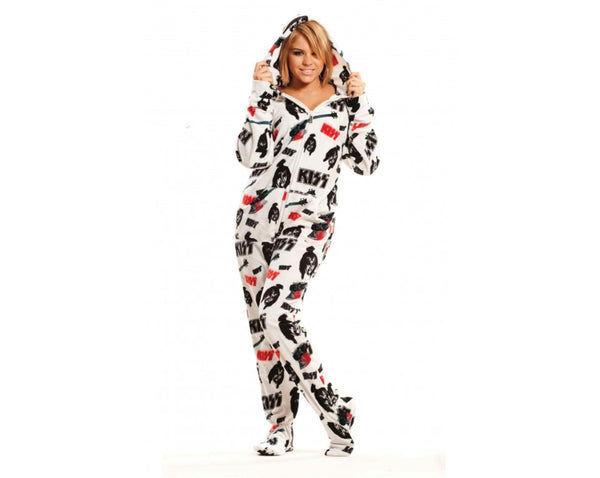 "KISS ""Unisex"" Footed Pajamas"
