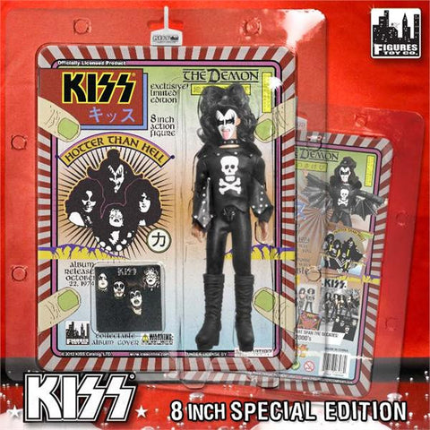 "KISS 8 Inch Action Figures Series 2 ""The Demon"" Hotter Than Hell Variant"