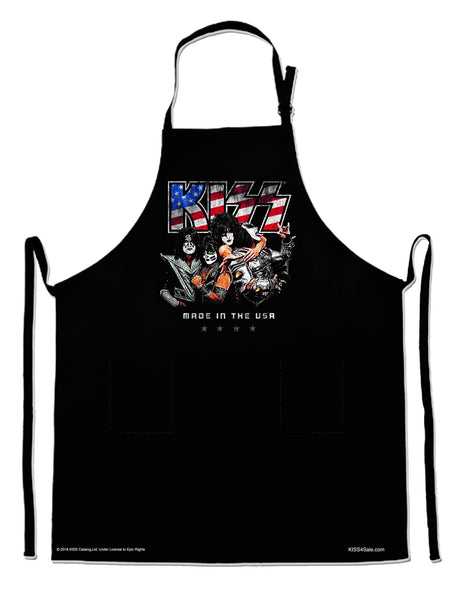 Kiss Made in the USA BBQ Apron