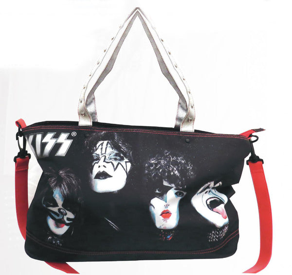 KISS Faces Zipper Tote Bag