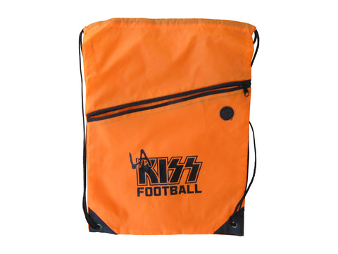 LA KISS Neon Orange Drawstring Bag