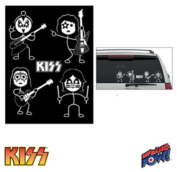 KISS Window Decals Set of 2 Sheets