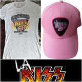 LA KISS Ladies Shirt & Hat Combo