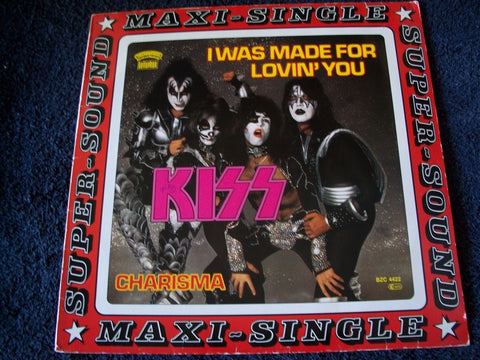 Kiss I was made for Lovin You Single LP