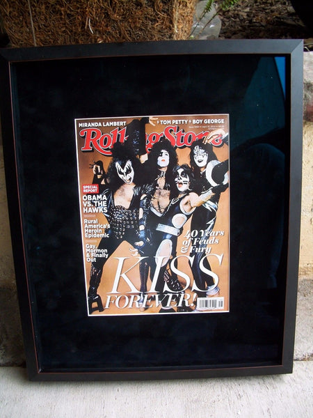Kiss Rolling Stones April 2014 Magazine Issue Beautifully Framed
