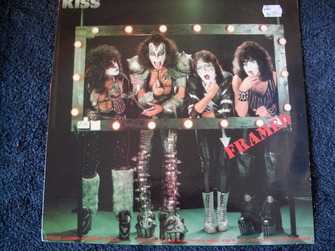 Kiss Framed Limited Edition German Logo 1990 LP Rare Purple Vinyl