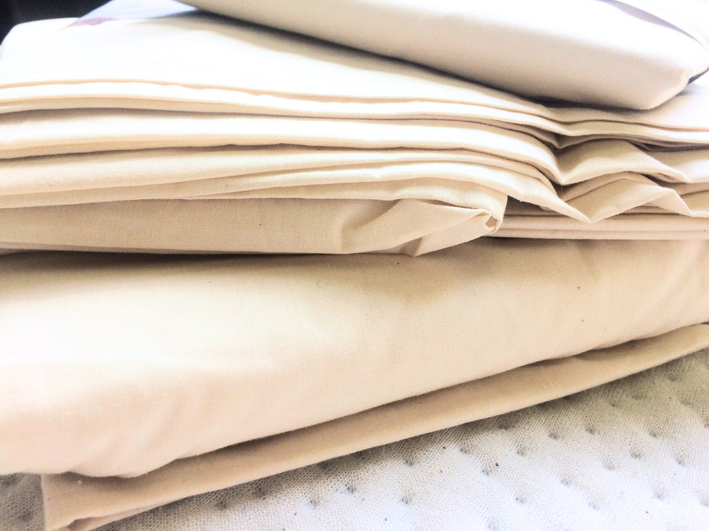 Organic Cotton Percale Sheet Set - 250 Thread Count