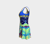 Meandering Colours and Spots of Time Flare Dress 2-Flare Dress--Zac Z