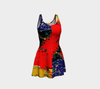 Meandering Colours and Spots of Time Flare Dress 3-Flare Dress--Zac Z