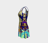 Meandering Colours and Spots of Time Flare Dress 4-Flare Dress--Zac Z
