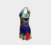 Meandering Colours and Spots of Time Flare Dress 5-Flare Dress--Zac Z
