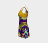 Meandering Colours and Spots of Time Flare Dress-Flare Dress--Zac Z