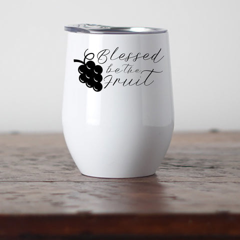 Blessed be the Fruit Stemless Wine Tumbler