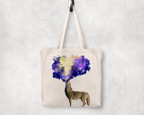 Coyote Galaxy Tote Bag