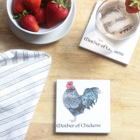Mother of Chickens Coaster Set
