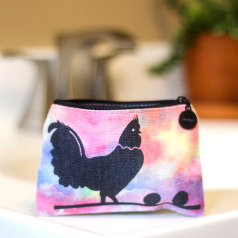 Chicken Linen Small Cosmetic Bag