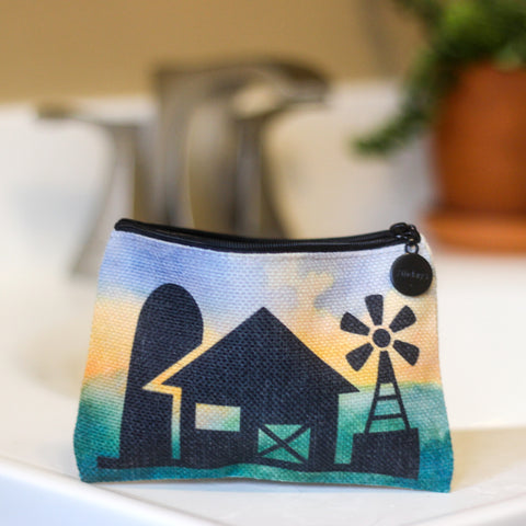 Farmhouse Linen Small Cosmetic Bag