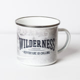 Wilderness Adventure is Calling Metal Camp Mug