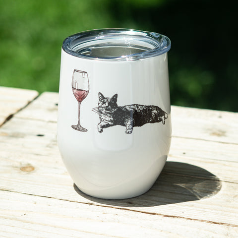 Cats and Wine Stemless Wine Tumbler