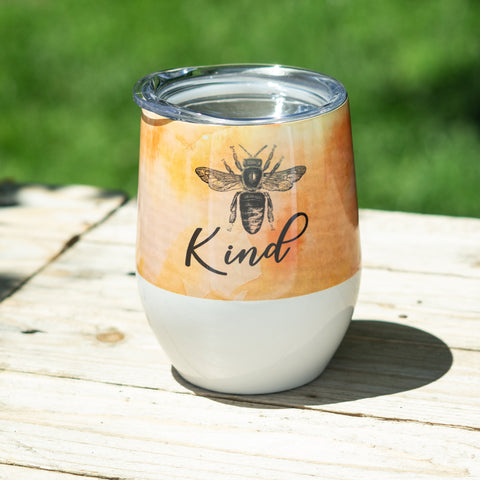 Bee Kind Stemless Wine Tumbler