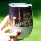 Cleveland Skyline Night Stemless Wine Tumbler