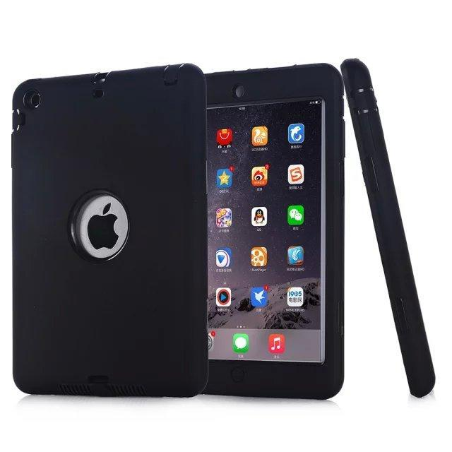Smile IT SC Black HOT!For iPad mini 1/2/3 Retina Kids Safe Armor Shockproof Heavy Duty Silicone Hard Case Cover free Screen protector film+stylus
