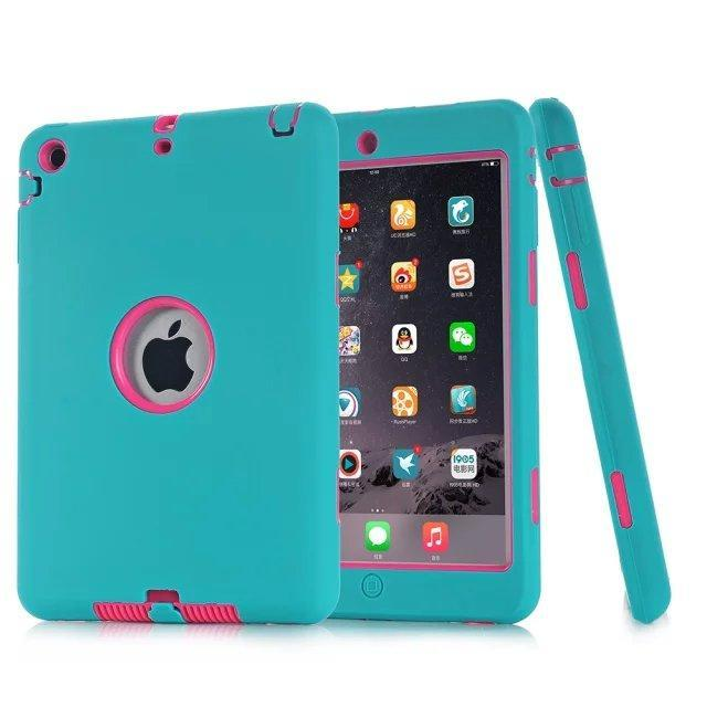 Smile IT SC blue rose HOT!For iPad mini 1/2/3 Retina Kids Safe Armor Shockproof Heavy Duty Silicone Hard Case Cover free Screen protector film+stylus